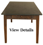 Medium Antique Farmhouse Table Slate Top
