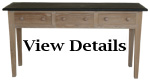 Limed Oak Console Table