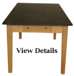 Medium Oak Farmhouse Table Slate Top