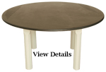 Painted Round Slate Top Table