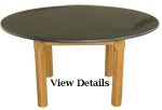 Pine Round Slate Top Table