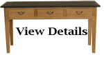 Console Table Oak Slate Topped