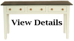 Console Table Painted Slate Topped