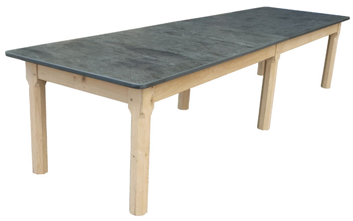 Six Legged 12ft Patio Table With Slate Top